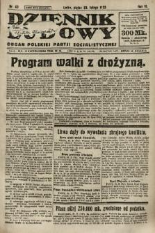 Dziennik Ludowy : organ Polskiej Partji Socjalistycznej. 1923, nr43