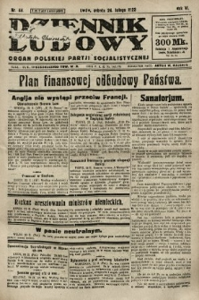 Dziennik Ludowy : organ Polskiej Partji Socjalistycznej. 1923, nr44