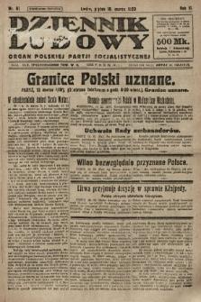 Dziennik Ludowy : organ Polskiej Partji Socjalistycznej. 1923, nr61