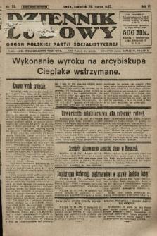Dziennik Ludowy : organ Polskiej Partji Socjalistycznej. 1923, nr72