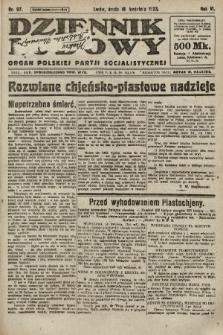 Dziennik Ludowy : organ Polskiej Partji Socjalistycznej. 1923, nr87