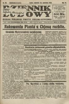 Dziennik Ludowy : organ Polskiej Partji Socjalistycznej. 1923, nr91