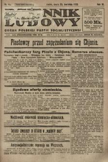 Dziennik Ludowy : organ Polskiej Partji Socjalistycznej. 1923, nr93