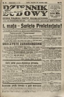 Dziennik Ludowy : organ Polskiej Partji Socjalistycznej. 1923, nr97