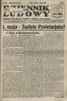 Dziennik Ludowy : organ Polskiej Partji Socjalistycznej. 1923, nr99