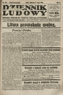 Dziennik Ludowy : organ Polskiej Partji Socjalistycznej. 1923, nr102