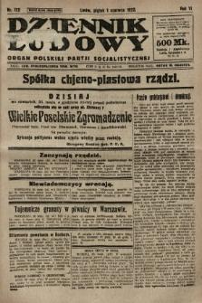 Dziennik Ludowy : organ Polskiej Partji Socjalistycznej. 1923, nr122