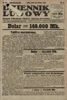 Dziennik Ludowy : organ Polskiej Partji Socjalistycznej. 1923, nr137
