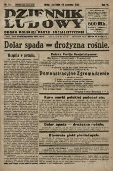 Dziennik Ludowy : organ Polskiej Partji Socjalistycznej. 1923, nr141
