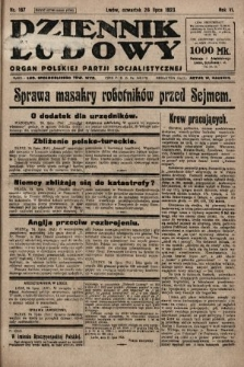 Dziennik Ludowy : organ Polskiej Partji Socjalistycznej. 1923, nr167