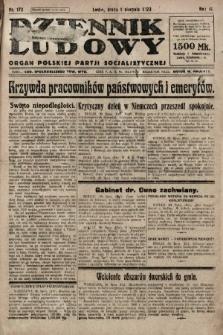 Dziennik Ludowy : organ Polskiej Partji Socjalistycznej. 1923, nr172