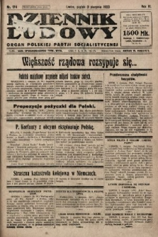 Dziennik Ludowy : organ Polskiej Partji Socjalistycznej. 1923, nr174