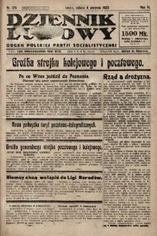 Dziennik Ludowy : organ Polskiej Partji Socjalistycznej. 1923, nr175