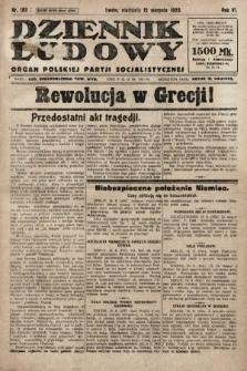 Dziennik Ludowy : organ Polskiej Partji Socjalistycznej. 1923, nr182