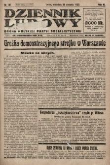 Dziennik Ludowy : organ Polskiej Partji Socjalistycznej. 1923, nr187