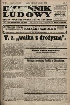 Dziennik Ludowy : organ Polskiej Partji Socjalistycznej. 1923, nr215