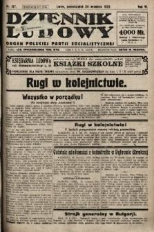 Dziennik Ludowy : organ Polskiej Partji Socjalistycznej. 1923, nr217