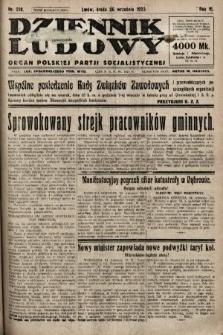Dziennik Ludowy : organ Polskiej Partji Socjalistycznej. 1923, nr218