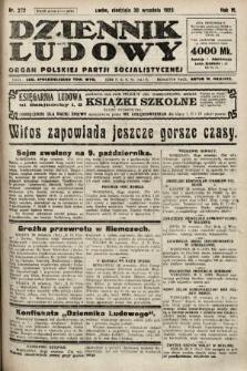 Dziennik Ludowy : organ Polskiej Partji Socjalistycznej. 1923, nr222
