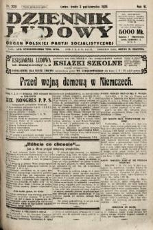 Dziennik Ludowy : organ Polskiej Partji Socjalistycznej. 1923, nr223