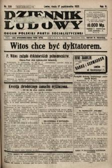 Dziennik Ludowy : organ Polskiej Partji Socjalistycznej. 1923, nr235