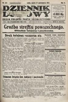 Dziennik Ludowy : organ Polskiej Partji Socjalistycznej. 1923, nr244