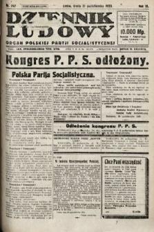 Dziennik Ludowy : organ Polskiej Partji Socjalistycznej. 1923, nr247