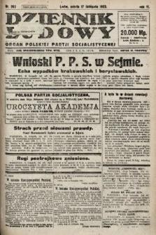 Dziennik Ludowy : organ Polskiej Partji Socjalistycznej. 1923, nr262