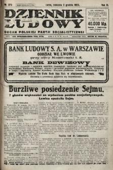 Dziennik Ludowy : organ Polskiej Partji Socjalistycznej. 1923, nr273