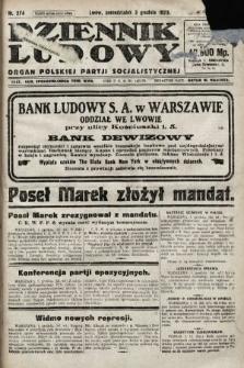 Dziennik Ludowy : organ Polskiej Partji Socjalistycznej. 1923, nr274