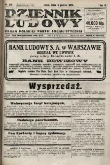 Dziennik Ludowy : organ Polskiej Partji Socjalistycznej. 1923, nr275