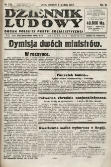 Dziennik Ludowy : organ Polskiej Partji Socjalistycznej. 1923, nr276