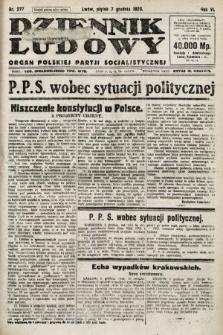 Dziennik Ludowy : organ Polskiej Partji Socjalistycznej. 1923, nr277