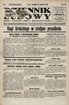 Dziennik Ludowy : organ Polskiej Partji Socjalistycznej. 1924, nr7