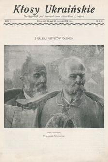 Kłosy Ukraińskie : dwutygodnik pod kierownictwem literackim J. Ursyna. 1914, nr 5/6