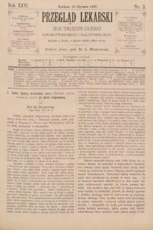 Przegląd Lekarski : organ Towarzystw Lekarskich Krakowskiego i Galicyjskiego. 1887, nr3