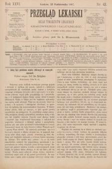Przegląd Lekarski : organ Towarzystw Lekarskich Krakowskiego i Galicyjskiego. 1887, nr43