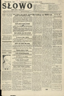 Słowo. 1929, nr1
