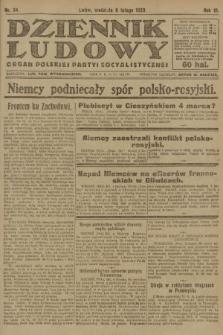 Dziennik Ludowy : organ Polskiej Partyi Socyalistycznej. 1920, nr34