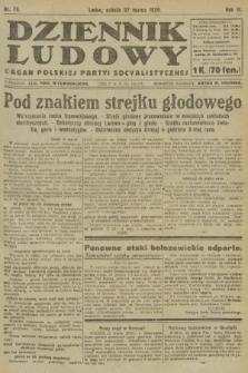 Dziennik Ludowy : organ Polskiej Partyi Socyalistycznej. 1920, nr75