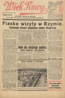 Wiek Nowy : popularny dziennik ilustrowany. 1939, nr11309