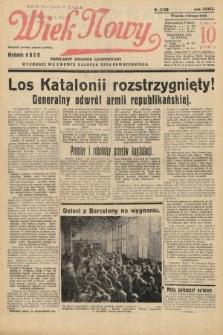 Wiek Nowy : popularny dziennik ilustrowany. 1939, nr11329