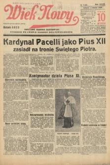 Wiek Nowy : popularny dziennik ilustrowany. 1939, nr11351
