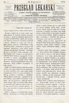 Przegląd Lekarski : wydawany staraniem Oddziału Nauk Przyrodniczych i Lekarskich C. K. Towarzystwa Naukowego Krakowskiego. 1871, nr3