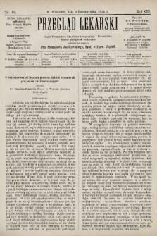 Przegląd Lekarski : organ Towarzystwa Lekarskiego Krakowskiego i Towarzystwa Lekarzy Galicyjskich we Lwowie. 1874, nr40