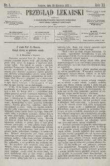 Przegląd Lekarski : wydawany ze współudziałem Profesorów Uniwersytetu krakowskiego tudzież Lekarzy szpitalnych i praktycznych. 1872, nr3