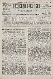 Przegląd Lekarski : organ Towarzystwa Lekarskiego Krakowskiego i Towarzystwa Lekarzy Galicyjskich we Lwowie. 1876, nr36