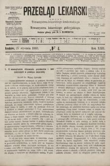 Przegląd Lekarski : organ Towarzystwa lekarskiego krakowskiego i Towarzystwa lekarskiego galicyjskiego. 1883, nr4