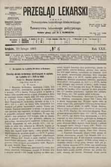 Przegląd Lekarski : organ Towarzystwa lekarskiego krakowskiego i Towarzystwa lekarskiego galicyjskiego. 1883, nr6
