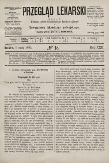 Przegląd Lekarski : organ Towarzystwa lekarskiego krakowskiego i Towarzystwa lekarskiego galicyjskiego. 1883, nr18